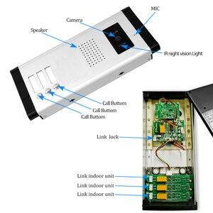 Image 5 - 7 السلكية هاتف باب ملون بفيديو نظام اتصال داخلي الأشعة تحت الحمراء للرؤية الليلية كاميرا الجرس + شاشات مراقبة داخلية للشقق 2/3/4