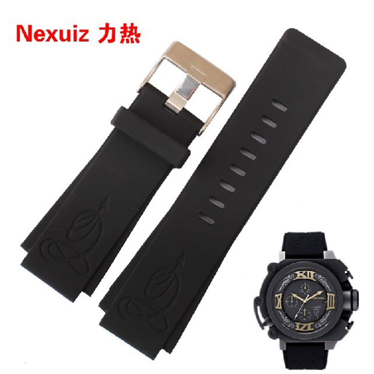 TOP grade Rubber Watchbands Waterproof Silicone Diving Sports watch straps Black for DZWB0001 DZ4243N 30*22mm Promotion