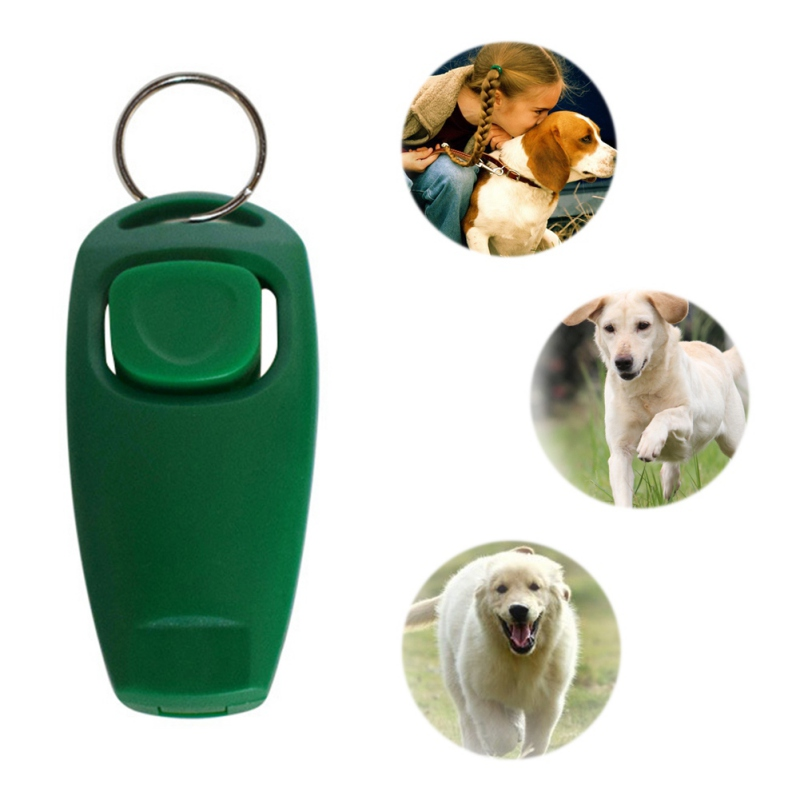Hot Sale 2 in 1 Whistle Clicker Combo Pet Dogs Training Whistle Dog Whistles Dog Supplies Y6