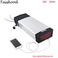 Высокая емкость 36 Вольт 1000 Вт литиевых Батарея pack 36 В 25Ah электрические велосипеды сзади стойки Батарея с samsung ячейки + Зарядное устройство