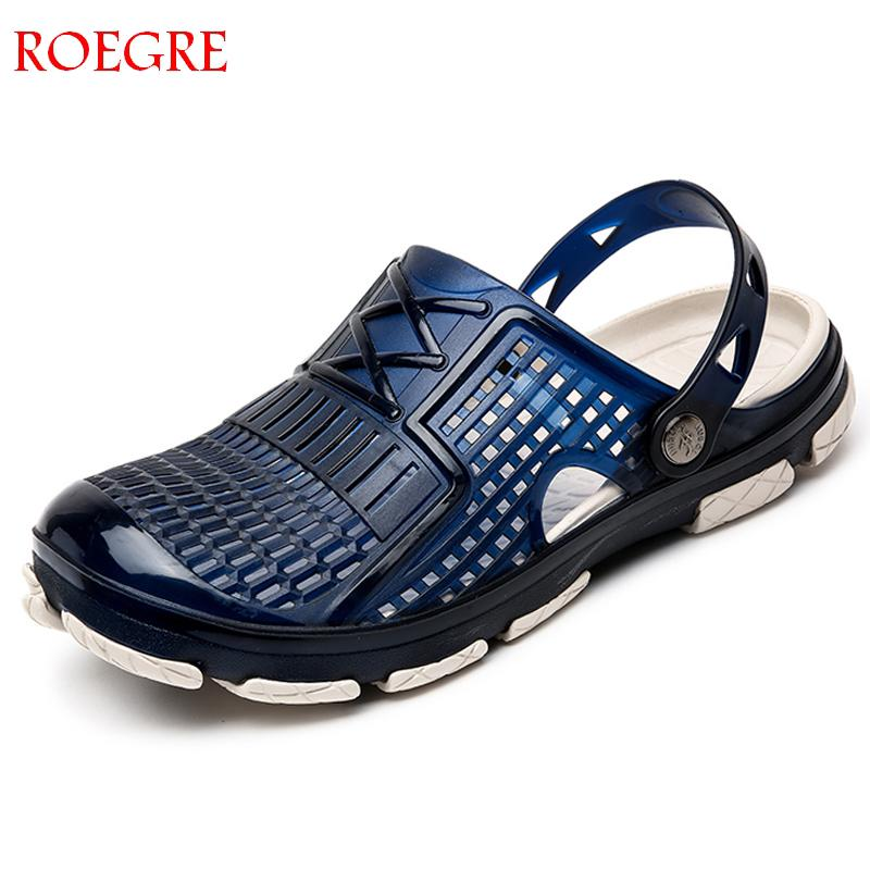 2019 New Summer Leisure Mens Sandals Water Beach Mens Clogs Man Jelly Sandals Mens Chef Shoes Lightweight Sandal Garden Clogs