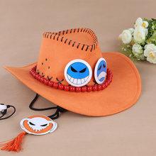 One Piece di rufy Fratello portuguese D. Ace Anime Cosplay Paglia cap ace di  orange cappello con le ossa del cranio toys spedizi. 7e18a7152b28