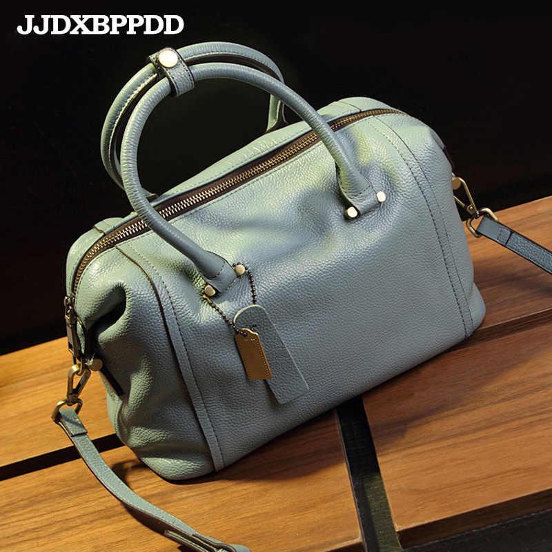 Jjdxbppdd Fashion Vintage Vrouwen Handtassen Echt Leer Merk Candy Schoudertassen Dames Bakken Crossbody Vrouwen Messenger Bag