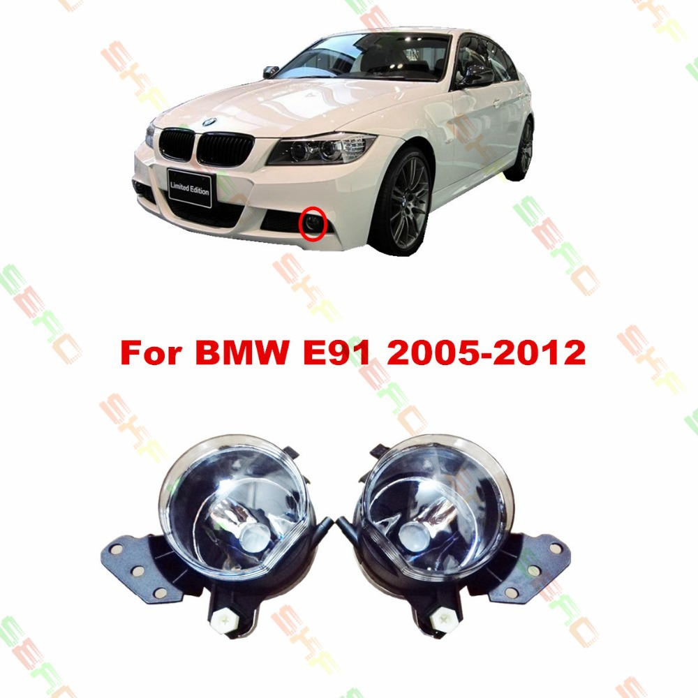 Car styling Fog Lamps  For BMW E91  2005/06/07/08/09/10/11/12  12 V   1 SET FOG LIGHTS цена 2017