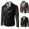 Spring Autumn 2016 New Men's Leather Jacket Men Leather Masculino Bomber Biker PU Leather Jackets For Men Skin Jacket Coat H728