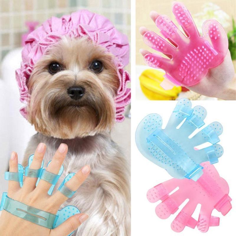 new Convenient useful Pet A Bath Brush Massage Dog Brush Pet Dog Grooming Palm Brush Rubbing pet bath good helper mini cute 5