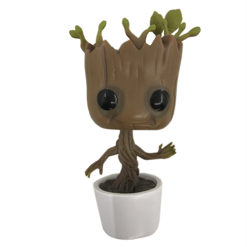 10CM Funko Pop Guardians of the Galaxy Groot Pvc Action Anime Figure Doll Shake Bobble Head Groot Tree Man Kids Toys  10cm funko pop guardians of the galaxy groot pvc action anime figure doll shake bobble head groot tree man kids toys