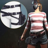 2 Colors Playerunknown's Battlegrounds PUBG Cosplay Belts Bag Cosplay Accessories Pu Leather Waist Bag Belt for Party Game Event