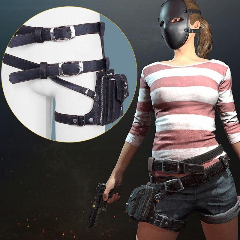 2 couleurs Playerunknown's champs de bataille PUBG Cosplay ceintures sac Cosplay accessoires Pu cuir taille sac ceinture pour fête jeu événement