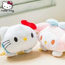 Hello Kitty Children Shoulder Cartoon Bag Plush Wallet Bags Stylish Messenger Girls Women Handbags Christmas Gift hello kitty christmas