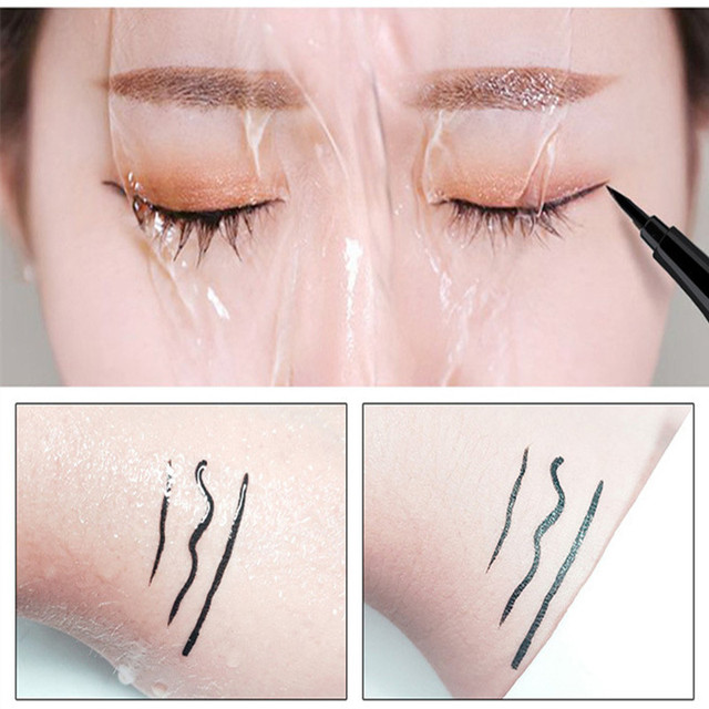 5 style of black liquid eyeliner shade brown make up eye liner color eyeliner waterproof eyeliner eyes makeup stencil for arrows 5