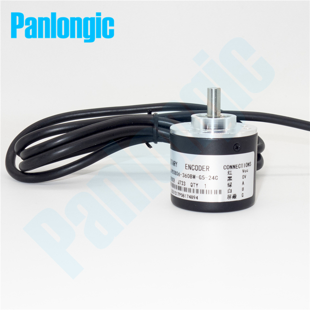 Panlongic энкодер 6 мм вал 360 P/r 400 P/r 600 P/R дополнительных фотоэлектрический Поворотный AB фазы для Длина измерения