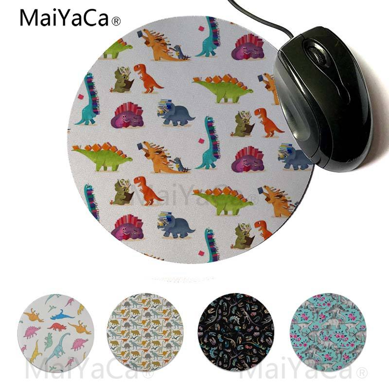 2019 Fashion Maiyaca Non Slip Pc Dinosaur Friends Gamer Play Mats Mousepad Round Mouse Pad 22x22cm 20x20cm Cleaning The Oral Cavity. Mouse Pads