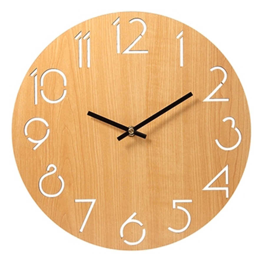 Pendule Murale Detail Feedback Questions About Silent Wooden Wall Clock Modern