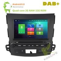 Android 6.0 Autoradio 8 Octa Core Car DVD Player For Mitsubishi Outlander 2006 2007 2008 2009 2010 2011 2012 Stereo Head unit