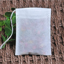 Tea Bags 100Pcs/Lot Empty Scented Drawstring Pouch Bag 5*7CM Seal Filter Cook Herb Spice Loose Coffee Pouches Tools(China)