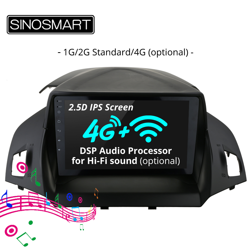SINOSMART 2 5D IPS 1G 2G Car GPS Navigation Player for Ford Kuga Escape C Max