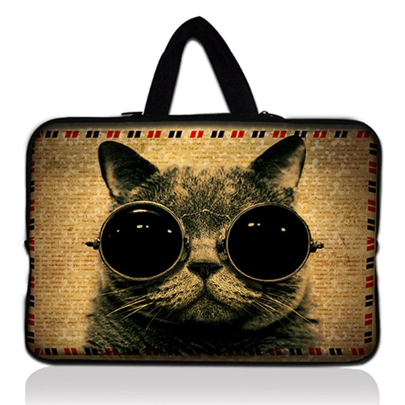 Cute Cat 15 Laptop Bag Neoprene Notebook Protector Case Cover For 15.4 Macbook Pro For 15.6 HP Pavilion Dv6 G6 Dell