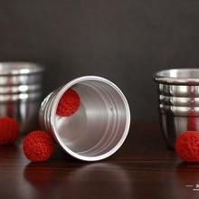Супер Профессиональные алюминиевые три чашки и шарики с отбивная чаша(большой) Волшебные трюки маг крупным планом иллюзия, трюк, реквизит