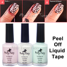 NEW Upgrade Ingredients 15ml Nail Art Peel Off Palisade Base Coat Liquid Tape Manicure Skin Protect Easy Stamping Tool