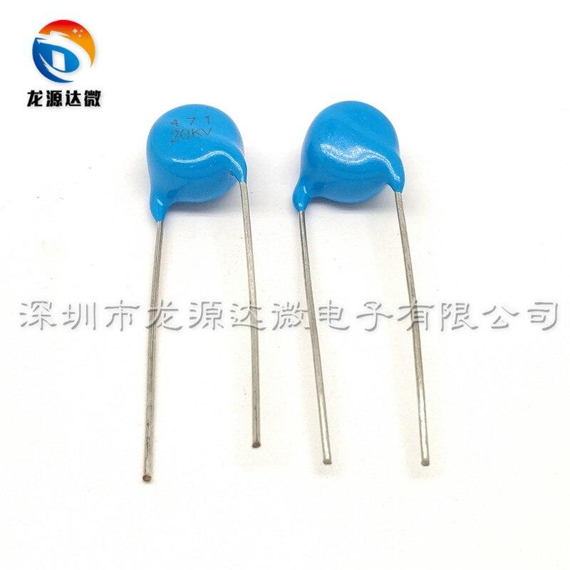 New 20pcs 15000V 471 15KV 471K 470P 470PF High Voltage Ceramic Capacitors