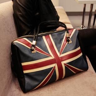 f8d740f5d4 New Fashion Women s British Style Union Jack UK Flag Leather Handbag  Shoulder Big Bag in Stock
