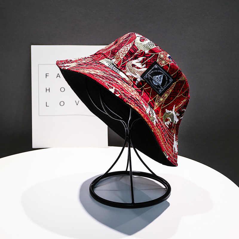 4ab827348 ... Soft Bucket Hat Man Women Outdoor Sports Hip Hop Cap Floral Double Side  Summer Cotton Fishing ...