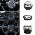 S LÍNEA cubierta Del Volante Volante De Fibra De Carbono Etiqueta Engomada Del Coche Para Audi A6 C5 C6 A3 A4 B5 B6 B7 B8 Q5 Q7 Q3 A1 A5 TT accesorios