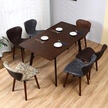 Скандинавский обеденный стул чистая красный стул домашний стол стул задний ногтей салон Ins туалетный современный минималистичный стул из твердой древесины