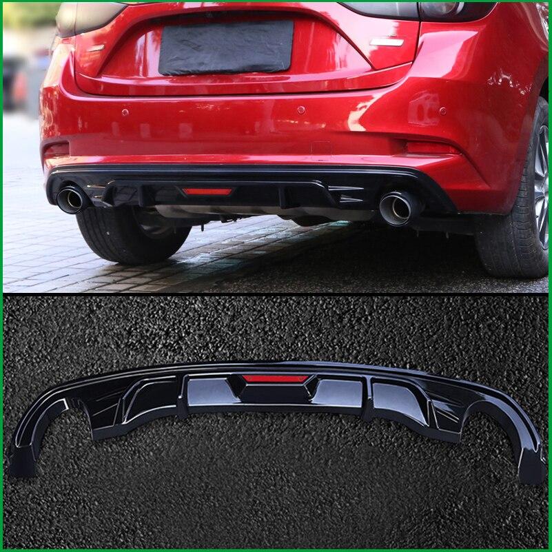 Para Mazda Axela 3 M3 hatchback 2017 2018 Rear Bumper Lip Spoiler Difusor Body Kit Protetor de Cobertura Estilo Do Carro Guarnição auto Peças