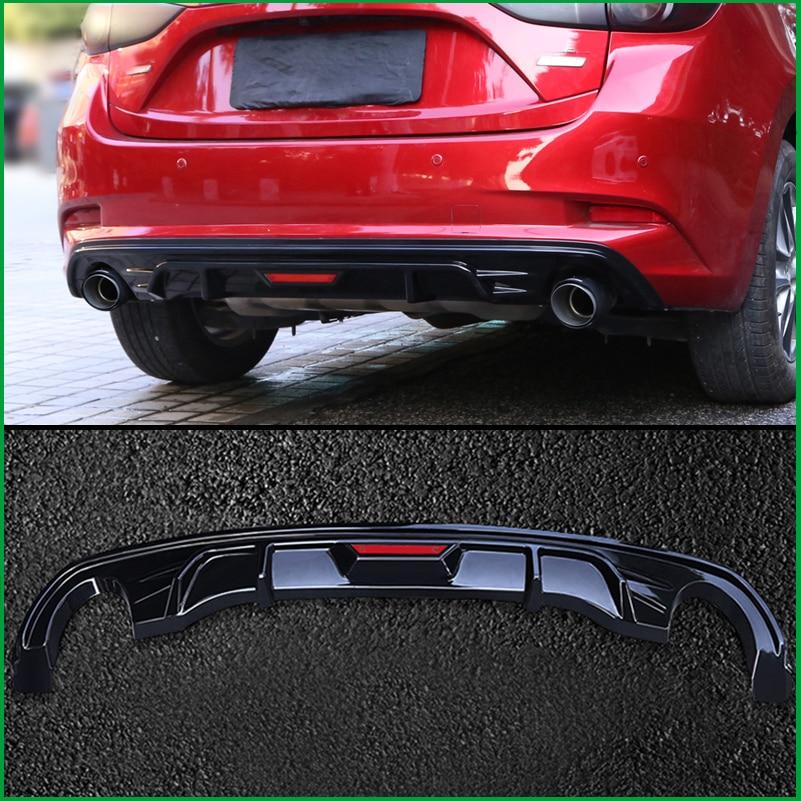For Mazda 3 M3 Axela hatchback 2017 2018 Rear Bumper Lip