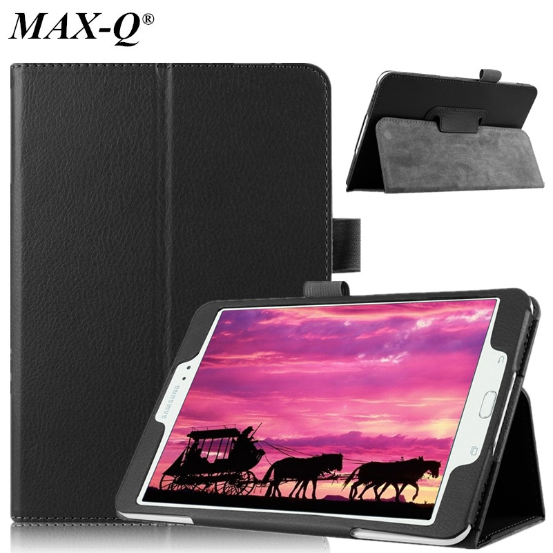 MAX-Q Luxury Business Pu leather stand case cover Shield for Samsung Galaxy Tab S2 T710 T715c 8.0 Tablet With Hard Shell