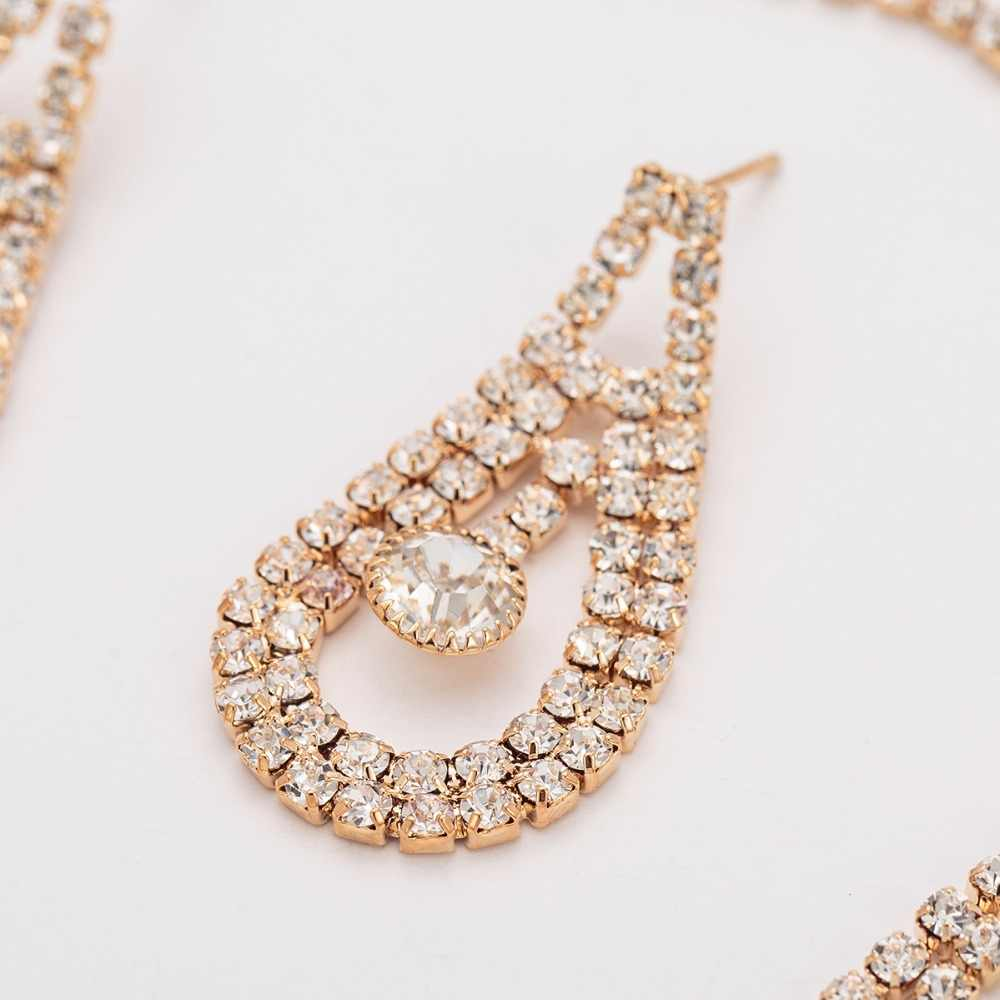 YFJEWE Hot Viennois argent/or couleur métallique boucles d'oreilles déclaration croix parure de bijoux pour femmes femme fête bijoux ensembles N381