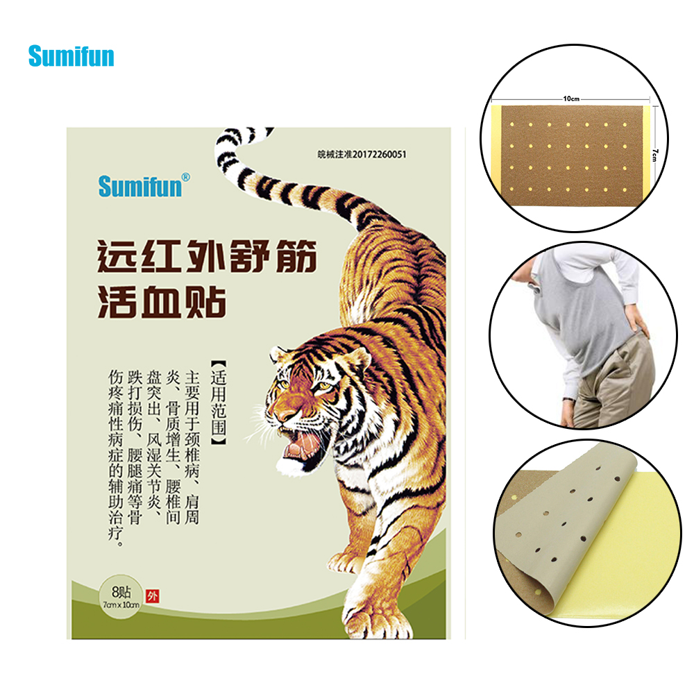 Sumifun 32Pcs Tiger Balm Pain Relief Plaster Herbal Medicine Joint Pain Arthritis Rheumatism Myalgia Treatment Massage D0589 soft laser healthy natural product pain relief system home lasers