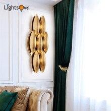 Современный американский креативный Простой настенный светильник, золотой светильник, роскошная вилла, гостиная, Проходная модель, настенный светильник для комнаты