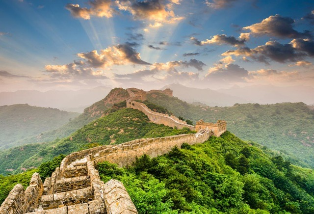Laeacco Chinese Great Wall Shine Landscape Photography Backdrops Vinyl Photo Backdrop Custom Backgrounds Props For