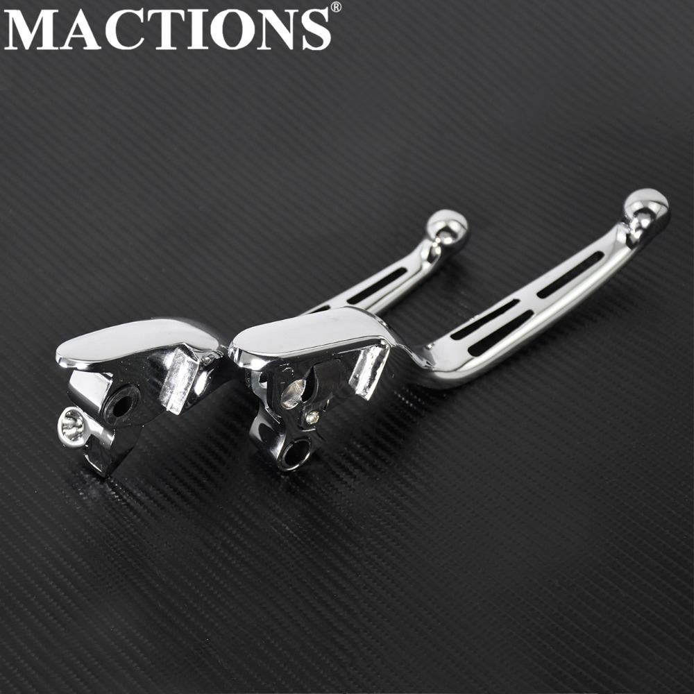 Motorcycle Pair Black Clutch Brake Levers For Harley Electra Glide Road Glide Road King Street Glide Tri Glide Touring Trike Bike FLHR FLHRC