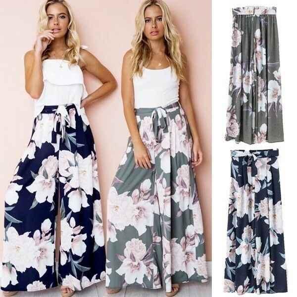 Повседневные женские штаны-шаровары с цветочным принтом, Длинные хиппи Цыганские брюки для танцев, йоги, широкие брюки палаццо