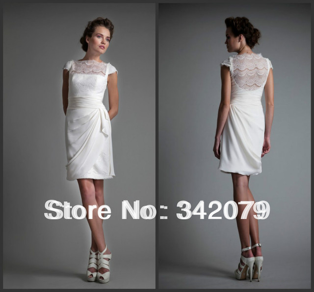 Ph09525 alta costura barrio tony vestido de boda blanco de seda ...