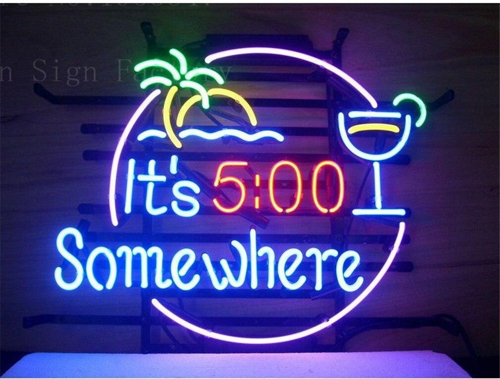 """100% QualitäT Neon Zeichen Für Seine 500 Irgendwo Devor Schild Real Glas Bier Bar Pub Display Weihnachten Licht Zeichen 17*14"""""""