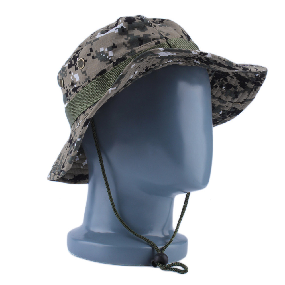 05927f76aad Military Army Jungle Camo Boonie Bucket Cap Hat Fishing Sun Caps ...