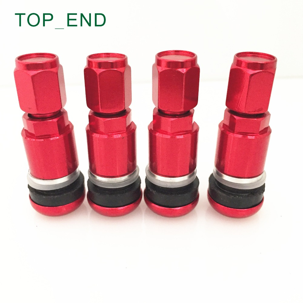 RED,MS525AL-HEX,Free Shipping,Professional Aluminum Stem Tire Valve,Hex Cap Tyre Valve For Passenger Cars,Fitting Most Cars