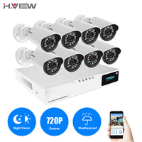 H VIEW 8ch CCTV Surveillance Kit 8 Cameras Outdoor Surveillance Kit IR Security Camera Video Surveillance