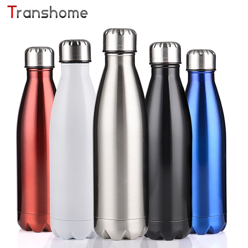 Transhome Frasco de Vacío 750 ML 304 Botellas de Agua Del Deporte Al Aire Libre