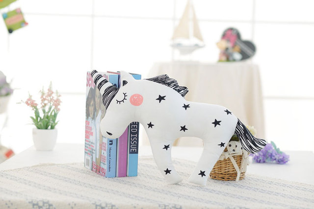 YunNasi Unicorn Dolls Stuffed Animals Baby Toys Kids Horse Pillow Home Decoration Rabbit Bear Fox Plush Toys For Girls Gifts