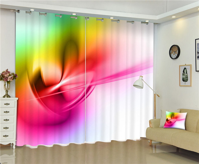2017 New Fashion style Blackout Window Drapes Luxury 3D Curtains For ...