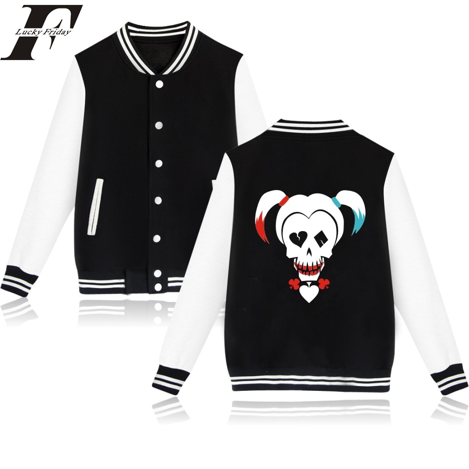 2017 Suicide Squad Harley Quinn Jacket Woman and Clothing Women Hoodie in Pink Girls Coats and Jackets Fridaywomen