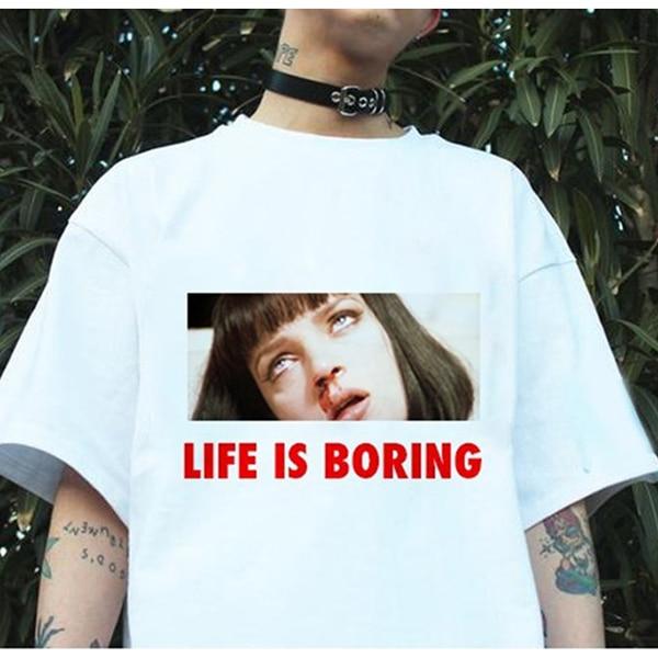 novel-print-life-is-boring-women-t-shirt-quentin-font-b-tarantino-b-font-female-short-sleeve-t-shirt-autumn-harajuku-cute-kawaii-funny-tshirt