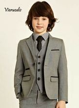 Boys Wedding Party Suit Children Toddler Formal Birthday Tuxedo 3 Pcs