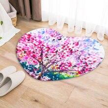 Dropshipping flower door mat heart Shape Anti-Slip Carpet Door Mat doormat Outdoor Kitchen Living room Floor Rug
